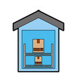 pile boxes carton in warehouse delivery icon vector image vector image