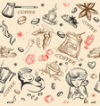 seamless pattern love coffee vector image