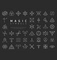 set of icons for magic symbols vector image
