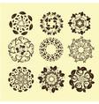set of vintage design elements10 vector image vector image