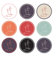 Set of yoga icon logo vector image vector image