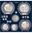 set retro signs for anniversary vector image