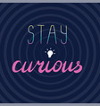 stay curious brush calligraphy vector image vector image