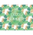 Summer pattern background vector image