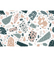 terrazzo flat seamless pattern scattered vector image