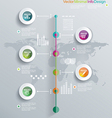 Timeline infographics elements and icons vector image vector image