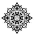 tracery black and white zen mandala the object is vector image