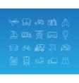 Transport mono line icon set vector image vector image