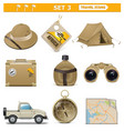 travel icons set 3 vector image vector image