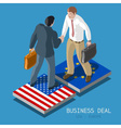 USA Europe Deal People Isometric vector image
