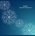 white snowflakes made of connected lines and dots vector image vector image