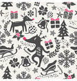 Christmas tiling background seamless pattern vector image