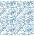 Abstract seamless pattern with abstract doodle vector image vector image