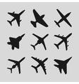 Airplane aircraft icons vector image vector image