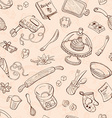 baking background vector image vector image