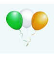 Balloons in Green White Orange as Ireland National vector image vector image