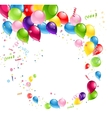 Balloons swirl vector image vector image