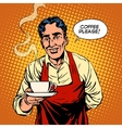 Barista hot coffee vector image vector image