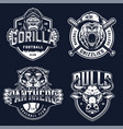 baseball and soccer clubs logotypes vector image vector image