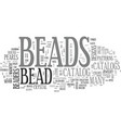 bead catalog text word cloud concept vector image vector image