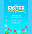 blue spring poster vector image