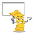 bring board fusilli pasta character cartoon vector image vector image
