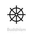 buddhism religion icon editable line vector image vector image