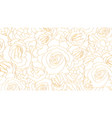 buds roses pattern flower vector image vector image