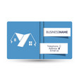 business card for real estate and construction of vector image vector image