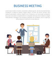 business meeting conference of boss and employees vector image vector image