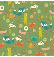 Cartoon cute forest seamless pattern vector image vector image