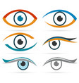 colorful icons eye set for design vector image vector image