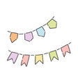 colorful party flags vector image
