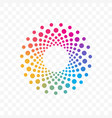 company color circle dots brand icon vector image vector image