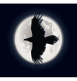 Crow and moon vector image vector image