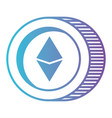 cryptocurrency etherum coin isolated icon vector image vector image