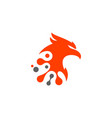 eagle technology logo design vector image vector image