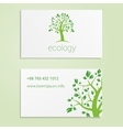 Ecological or eco energy company business card vector image vector image