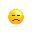 emoji smile icon symbol frowning face yellow vector image vector image