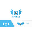 eye and people logo combination optic and vector image