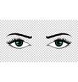 eyes hand drawn female luxury eye vector image