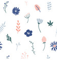 flower simple minimalistic seamless pattern vector image vector image