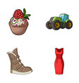 food shoes and other web icon in cartoon style vector image vector image