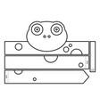 frog coloring headband vector image