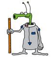 Funny green alien vector image