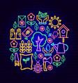 garden neon concept vector image vector image