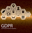 gdpr data protection regulation vector image