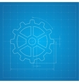 Gears symbol on the drawing paper vector image