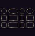golden frames modern gold geometric frames vector image vector image