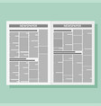 graphical design newspaper template vector image